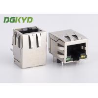 Wholesale Single Port 10 / 100 BASE-T RJ45 Integrated Magnetics Jack, G/Y led from china suppliers
