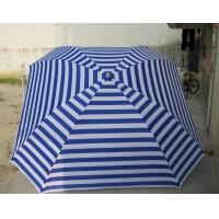 Wholesale 180g Polyester White And Blue Stripe Square Beach Umbrella Windproof Sun Awning from china suppliers