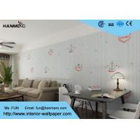 Wholesale White Cartoon Stripe Pattern Non - Woven Kids Wallpaper For Walls from china suppliers