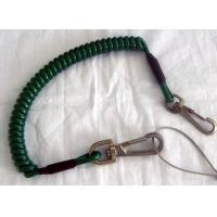Wholesale Dark green strong coiled tool tether protective lanyard system w/snap hooks by custom OEM from china suppliers