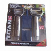 Buy cheap Titan Peelers with Built-in Garnishing, Made of Stainless Steel from wholesalers