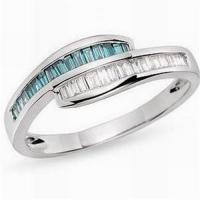 Wholesale Diamond & bule topaz ring from china suppliers