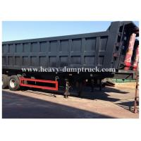 Wholesale 3 axles side dumper trailer / hydraulic tipper trailer in Algeria 100 tons Capacity from china suppliers