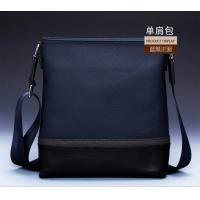 Wholesale real leather two tone cross body message bag for young men from china suppliers
