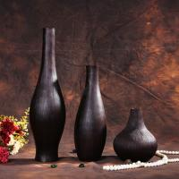 Wholesale euro style wood decorative vase for dried flower from china suppliers
