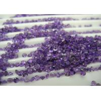 Buy cheap Round 0.22cts Natural Amethyst Gemstones Normal Cutting For Jewelry from wholesalers