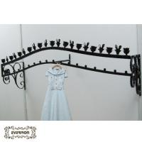 Wholesale metal clothes hangers wall rack from china suppliers
