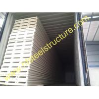 Wholesale Corrugated Metal Roofing Sheets Sandwich Panel EPS PU Rock Wool For Prefab Shed from china suppliers