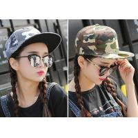 Wholesale Cool Custom Caps Hats Embroidery / Camouflage Hip Hop Cap For Girls from china suppliers