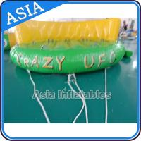 Wholesale 5 Person Water Ski Tube Inflatable Boats Crazy UFO Shaped 0.9mm PVC Tarpaulin from china suppliers