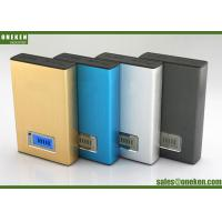 Quality 12000mah LCD External LCD Display Power Bank Blue / Gold For Mobile Charging for sale