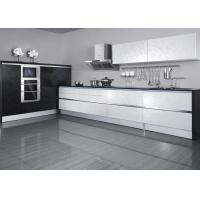 Wholesale Melamine Black And White Kitchen Cupboards / Cabinets Stainless Steel Commercial from china suppliers