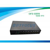 Quality SFP 8 Port Fiber Optic Ethernet Switch 100mbps , Full Duplex Switch Dual Mode for sale