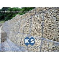 China Durable Gabion Retaining Wall 3.0 - 4.5mm Dia with PVC Coated Stainless Steel Galvanized Wire on sale