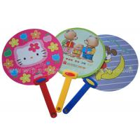 Wholesale Red Blue Green Colorful PP Hand Fan with Cartoon Animal / Fruit  Printed from china suppliers