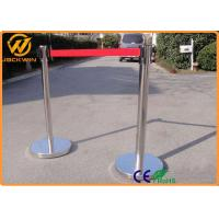 Wholesale Temporary 2m Retractable Belt Barriers / Stainless Steel Crowd Queue Control Barriers from china suppliers