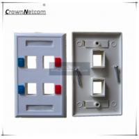 Wholesale Network US RJ45 Faceplates For Network Modules ABS Ethernet Face Plate 1p 2p 4p 6p from china suppliers