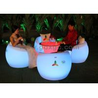 Wholesale Color Changeable Outdoor Led Furniture Arm Bar Chairs With Tables from china suppliers