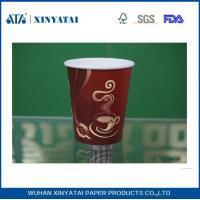 Wholesale 10oz Customised Single PE Coating Paper Adiabatic Disposable Cups for Hot Drinks from china suppliers