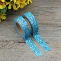 Quality cheap price gummed adhesive kraft paper tapes glitter tape for gift package for sale
