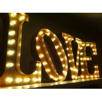 Wholesale Freestanding LED Love Marquee Letters , Wedding Party Large Illuminated Letters from china suppliers