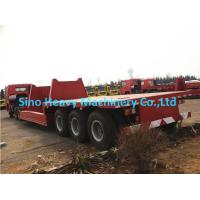 Buy cheap 3 Axles Manual Semi Trailer Trucks Low Bed , Two Single Cargo Truck from wholesalers