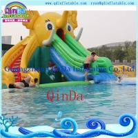 Wholesale Inflatable Slide for Pool Ginat Inflatable Elephant Slide Water Slides for Sale from china suppliers