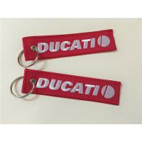 Wholesale Ducati Car Logos Fashion  Embroidery Keychain Keyring Key Ring Key Chain Key FOB from china suppliers