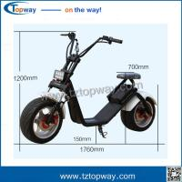 Wholesale Harley electric scooter 1000w citycoco electric scooter with big wheels front fork from china suppliers