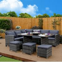 Wholesale Corner Outdoor Rattan Sofa Dining Sets High-End Quality Garden Dining Table from china suppliers