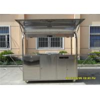 Wholesale Food Grade 304 Stainless Steel Coffee Cart Mobile Stainless Steel Food Kiosk from china suppliers