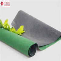 Wholesale Soft Nonwoven Plain Flocked Fabric , Spunlace Green Velvet Fabric from china suppliers