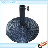 Wholesale Rattan Outdoor Furniture Resin Wicker Umbrella Stand / Sun Umbrella Bases from china suppliers