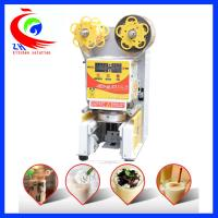 Wholesale Commercial Fully Automatic Bubble Milk Tea Cup Sealing Machine With CE Certification from china suppliers