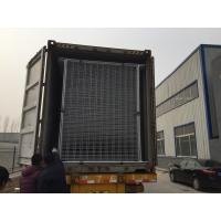 Wholesale temp fence panels AURUKUN 2100mm x 2400mm temporary fencing panels manufacturer 42 microns hdg after welding from china suppliers