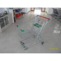 Buy cheap Professional 125L Wire Grocery Cart With Wire Mesh Base Grid , ROHS from wholesalers