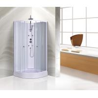 Wholesale Customized Corner Shower Stall , Curved Corner Shower Units White Painted Profiles from china suppliers