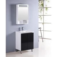 Buy cheap Bathroom cabinet ceramic single faucet hole one piece white hand wash basin from wholesalers