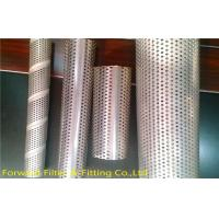 Quality Center Muffler Perforated Metal Tubing Stainless Steel , Filtration / Separation Tubes for sale