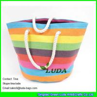 Wholesale LUDA colorful beachh totes exra Large paper straw beach bags from china suppliers