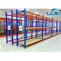 Wholesale Convenient Medium Duty Shelving Plywood Board Steel Frame 100-150kg / Layer from china suppliers