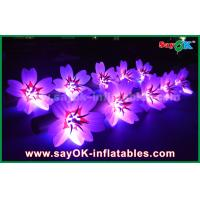 Wholesale 5m White Long Ground Nylon Cloth LED Flower Chain Inflatable Light Decoration from china suppliers