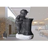 Wholesale Boy And Girl With LED Light Fountain Indoor And Outdoor Polyresin Material Garden Decoration  Water Fountain from china suppliers