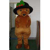 Wholesale Good ventilation Cartoon Character Brown bear animal mascot costumes for adults from china suppliers