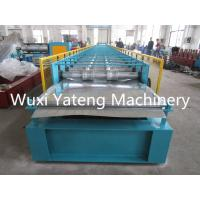 Wholesale Customer Design Metal Floor Decking Sheet Roll Forming Machine With High Rib Manual Decoiler from china suppliers