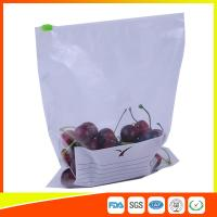 Wholesale Zipper Top Plastic Food Storage Bags With Slider , Airtight Storage Ziplock Bags from china suppliers
