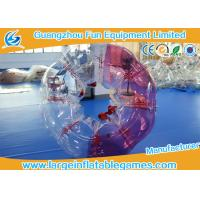Wholesale Red / Blue Body Bubble Football Soccer TPU Human Bubble Football Ball For Adult from china suppliers