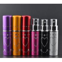 Wholesale 5ml embedded diamond aluminum spray perfume bottles, 5ml perfume glass bottles from china suppliers