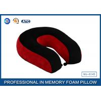 Buy cheap Red And Black Neck Support Memory Foam Pillow U Shaped Travel Pillow For Sleeping from wholesalers