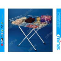 Wholesale White Promotion Retail Dump Bins Collapsible Wire Display Table from china suppliers